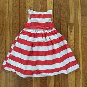 GAP 2T Bateau Neckline Striped Party Dress